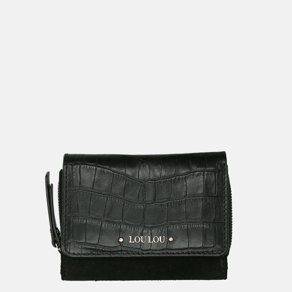 LouLou Essentiels Classy Croco portemonnee XS black