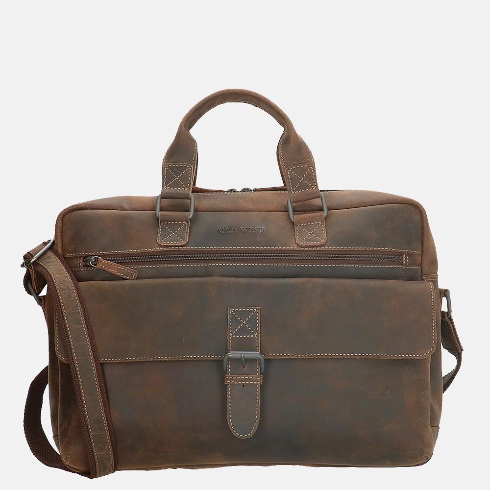 Old West laptoptas 15.6 inch dark brown