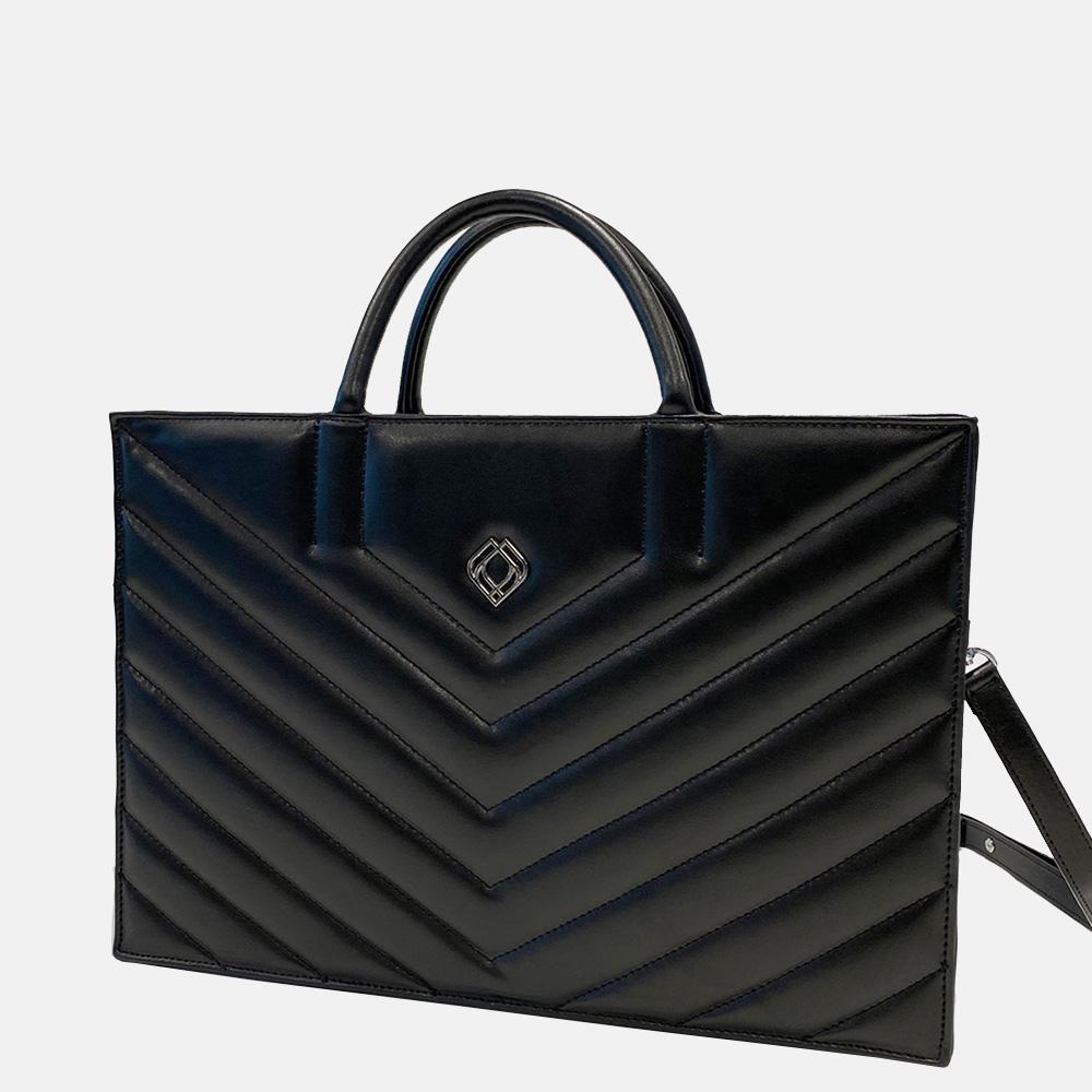 Trashious Businessbag handtas 15 inch wijnleer zwart