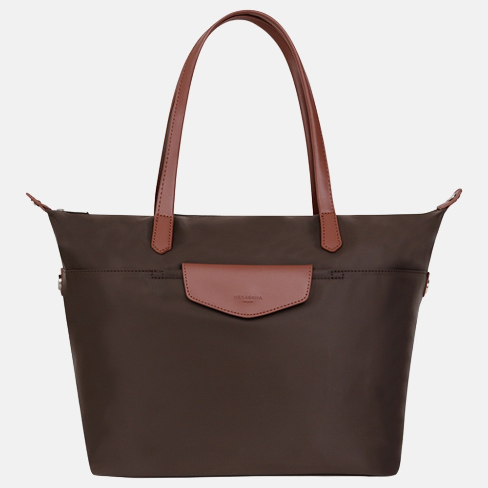 Hexagona shopper M dark brown