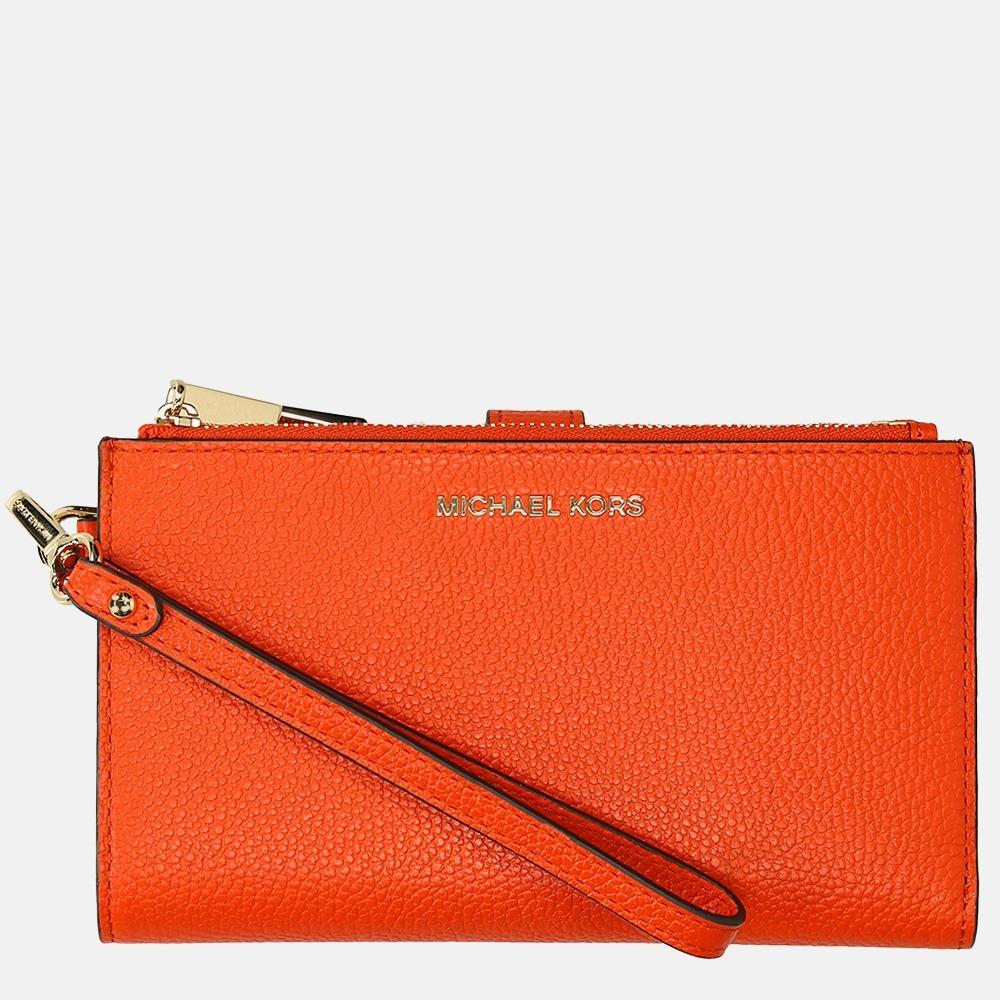 Michael Kors Jet Set Double Zip Wristlet portemonnee clementine