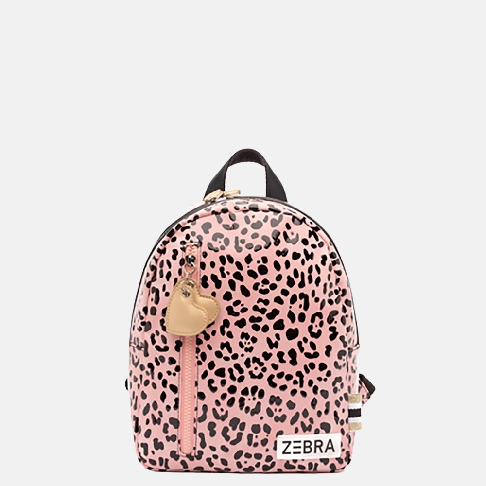 Zebra kinderrugzak S pink spot