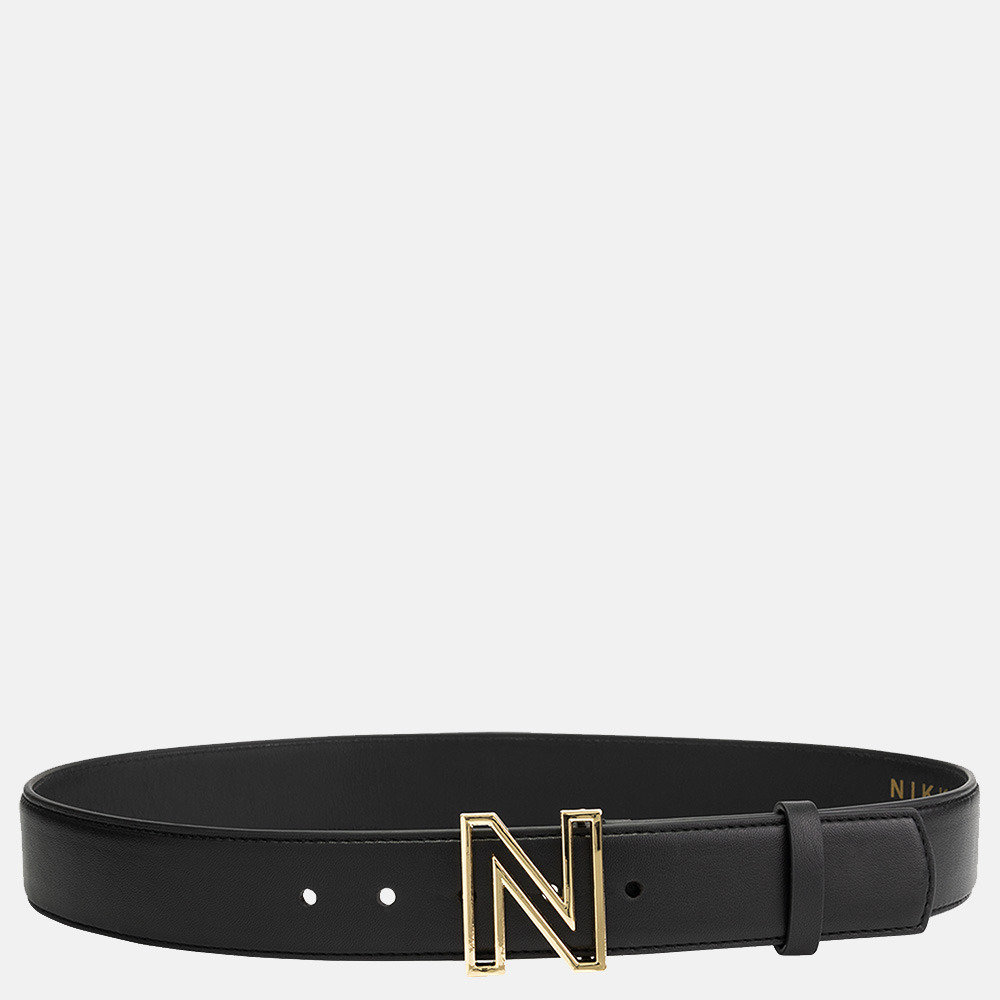 NIKKIE riem logo black/gold