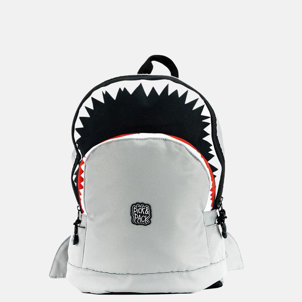 Pick & Pack Shark kinderrugzak M grey