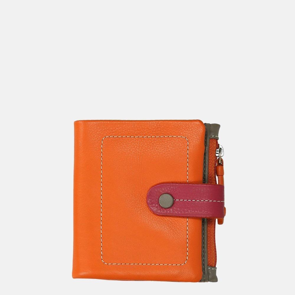Visconti portemonnee orange multi