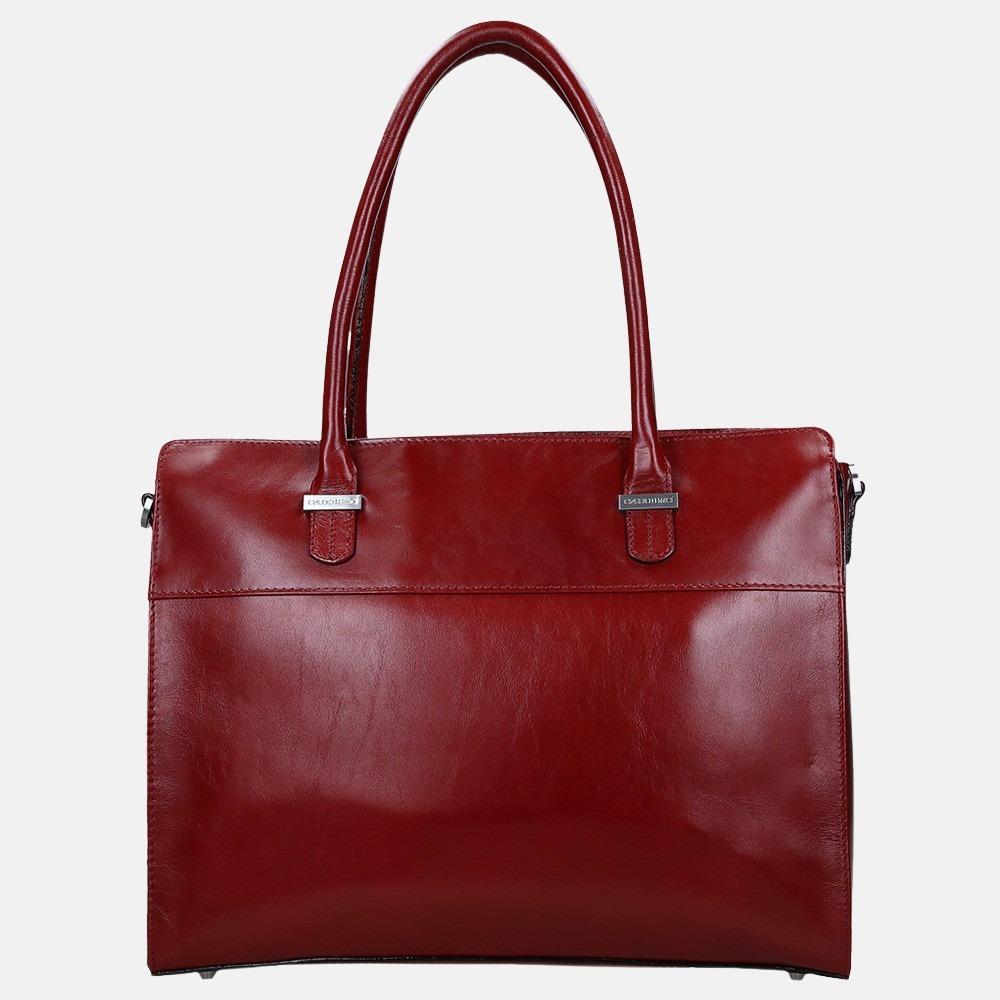Claudio Ferrici Classico business shopper 13.3 inch red