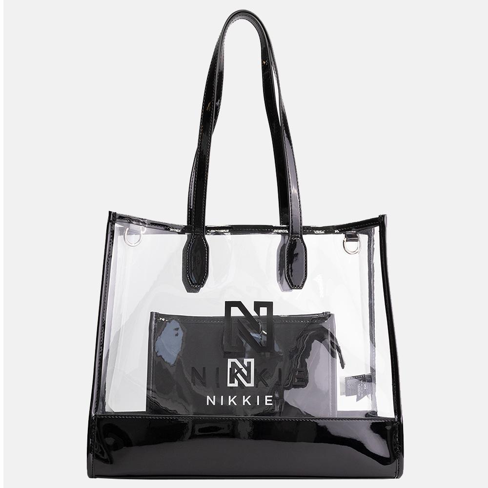 NIKKIE Pepper Transparant shopper black