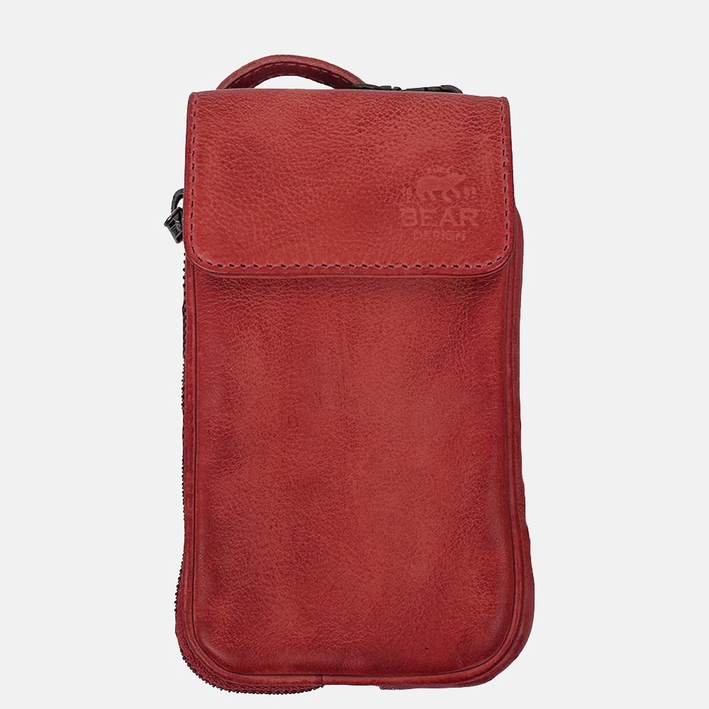 Bear Design Elske telefoontas red