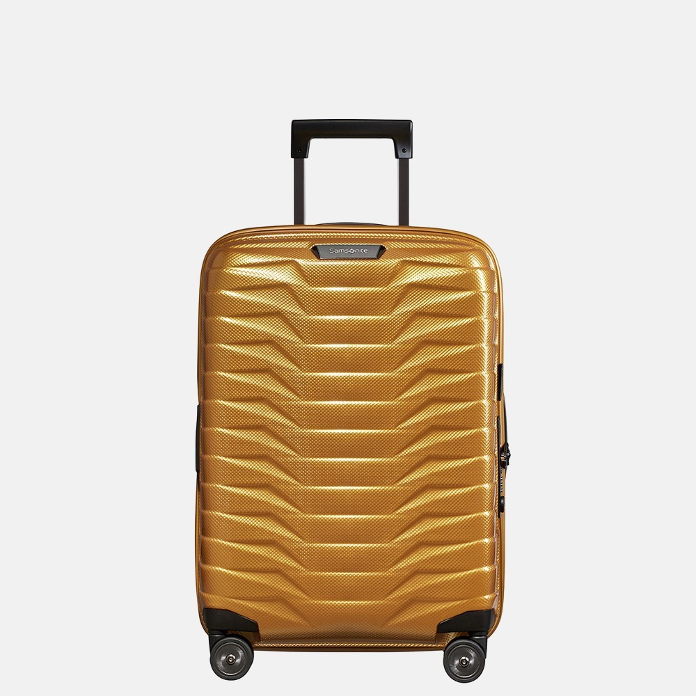 Samsonite Proxis handbagage spinner 55 cm honey gold
