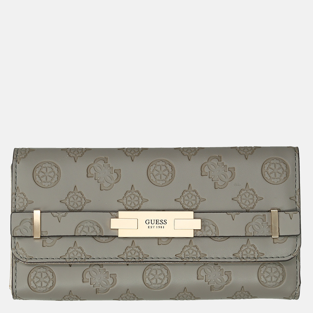 Guess Bea SLG trilfold portemonnee taupe