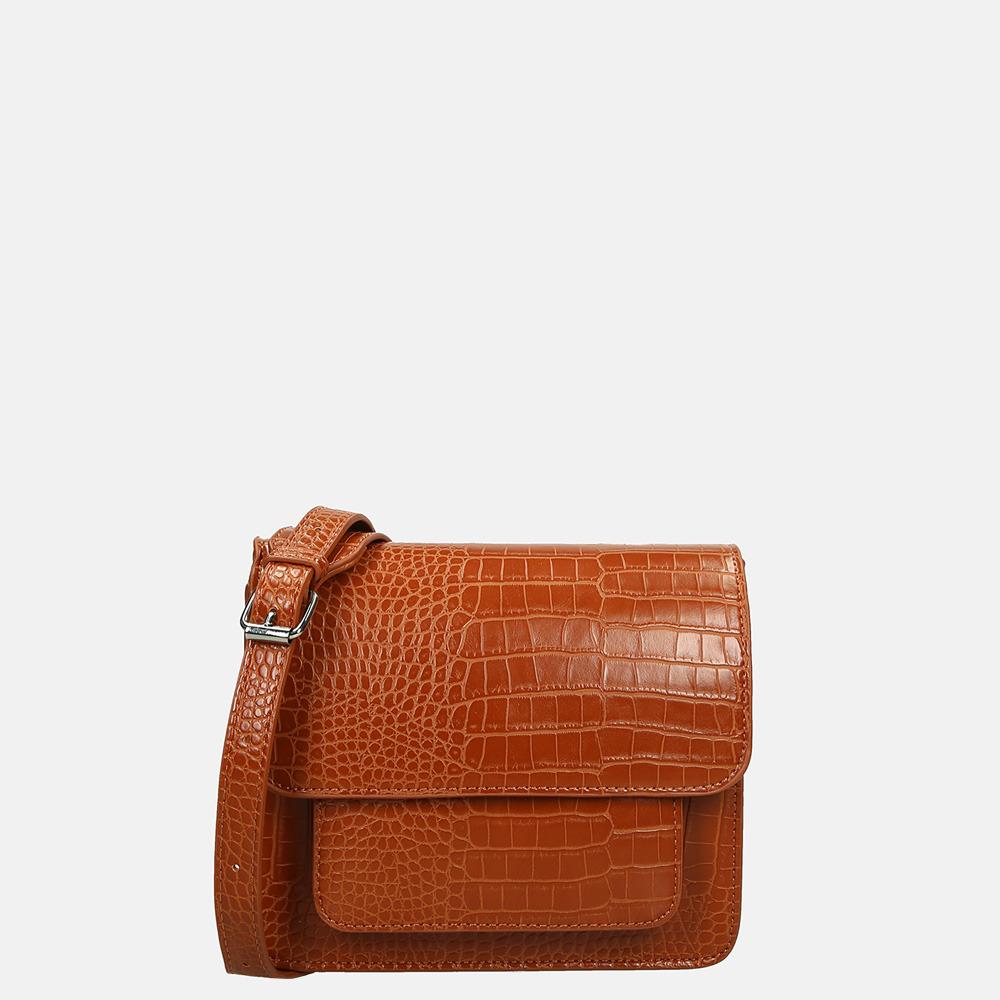 HVISK Cayman Pocket crossbody tas mat gingerbread brown
