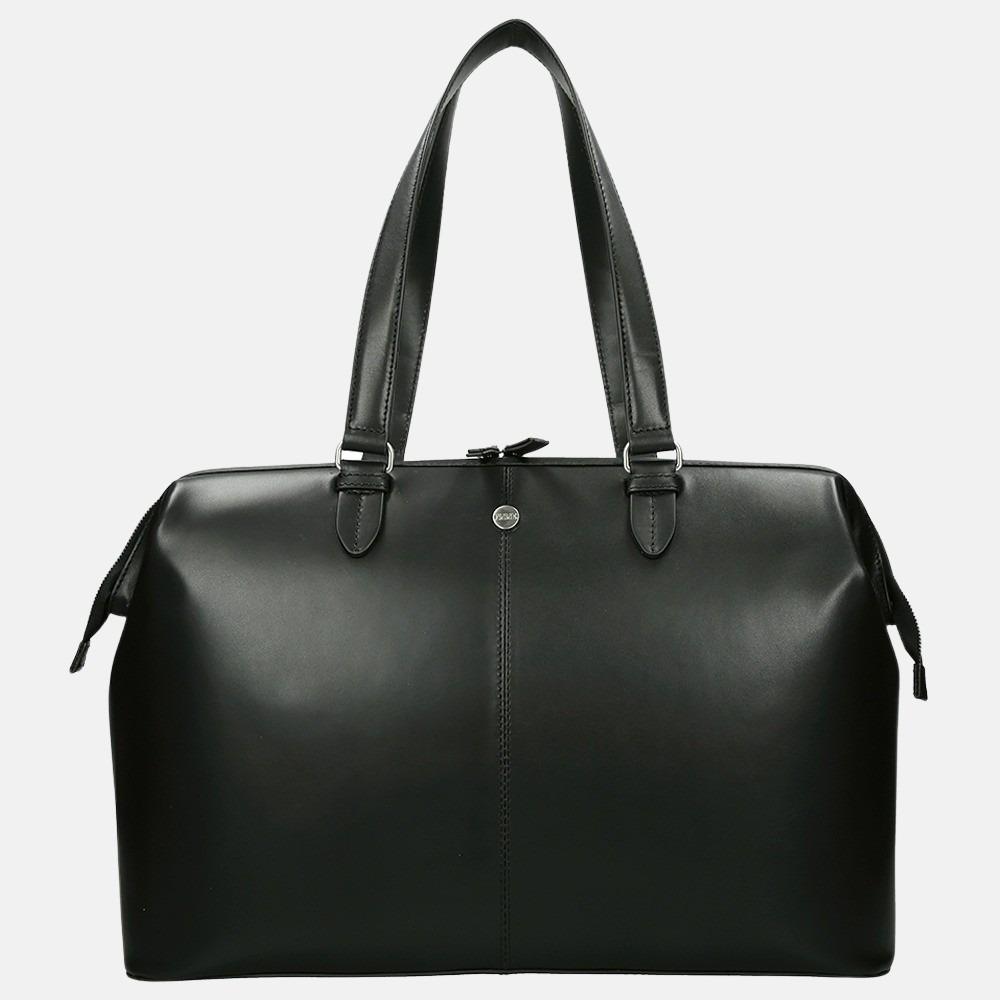 FMME Christy shopper/laptoptas 15.6 inch black classic