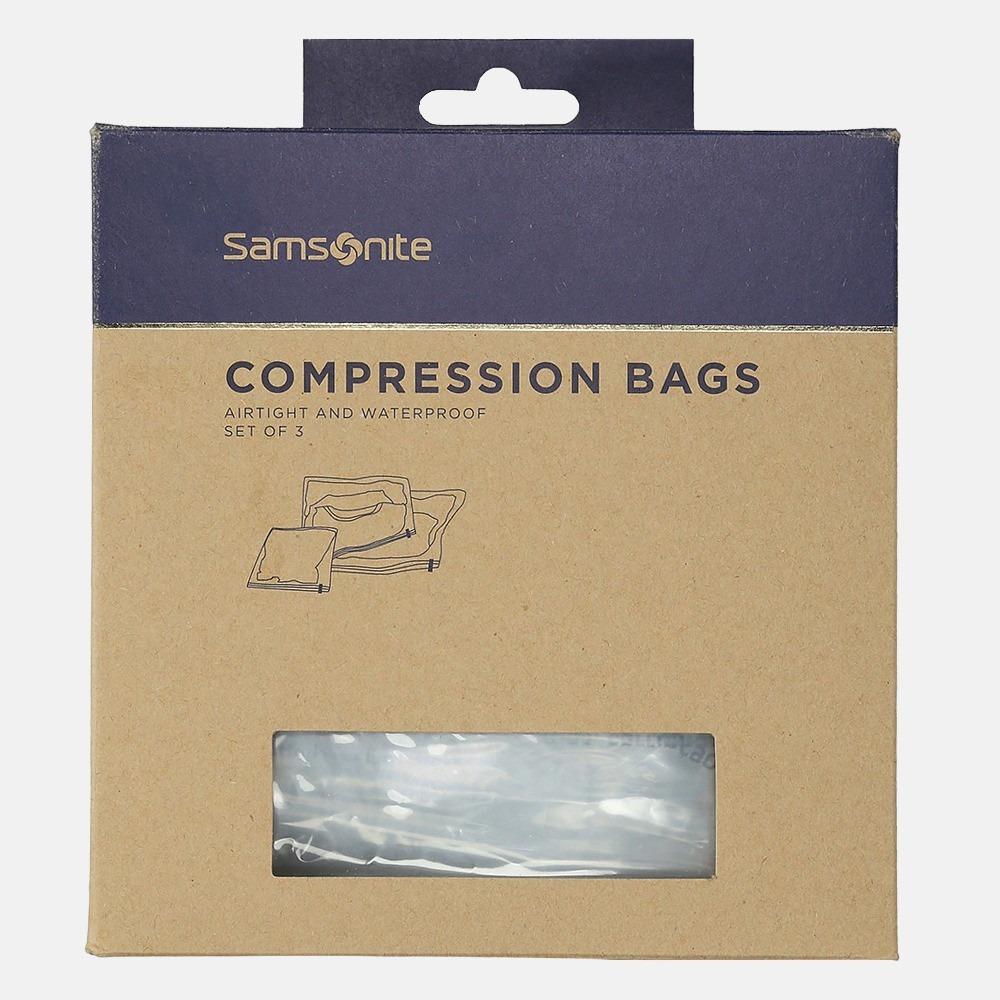 Samsonite Compression Bags Pack Of 3 translucent