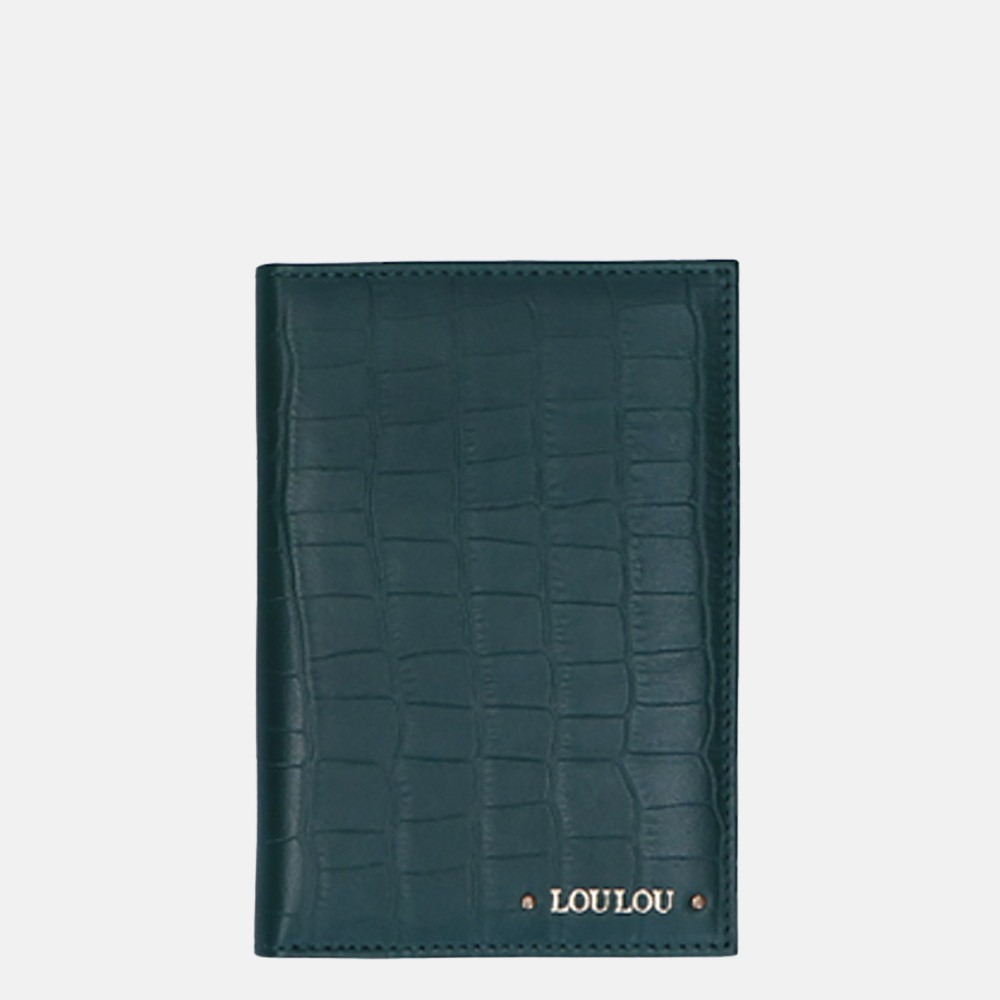 LouLou Essentiels Classy Croco paspoorthoes pine green
