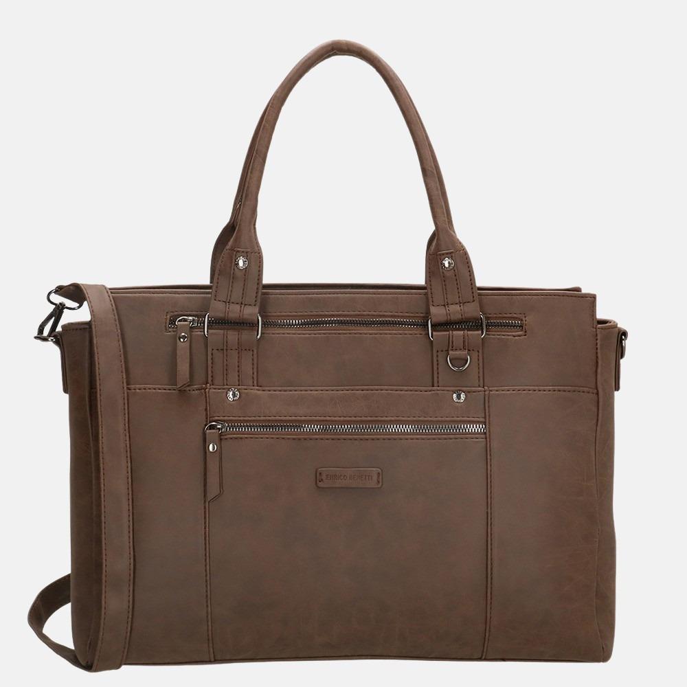 Enrico Benetti Nikki shopper 14 inch brown