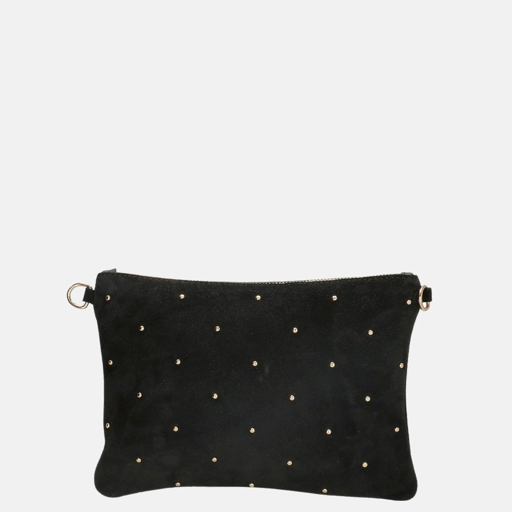 Charm London Leather clutch studs black