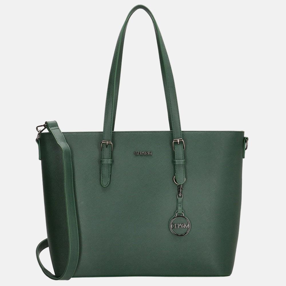 Charm London shopper emerald green