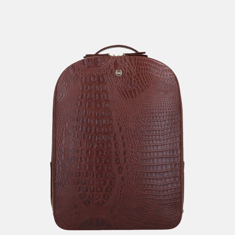 FMME Claire laptop rugzak 13.3 inch croco brown