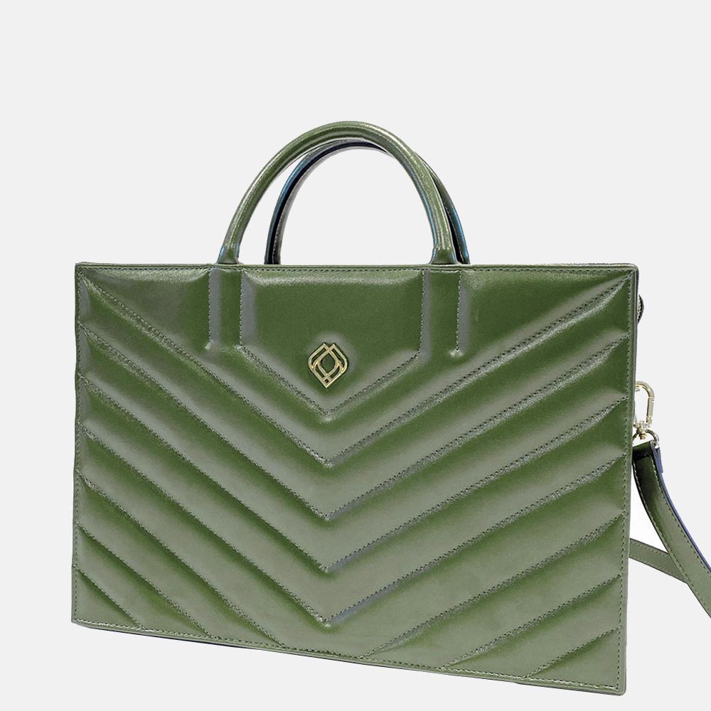 Trashious Businessbag handtas 15 inch cactusleer groen