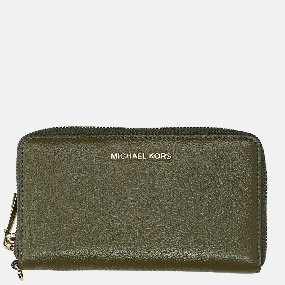 Michael Kors Jet Set portemonnee large olive
