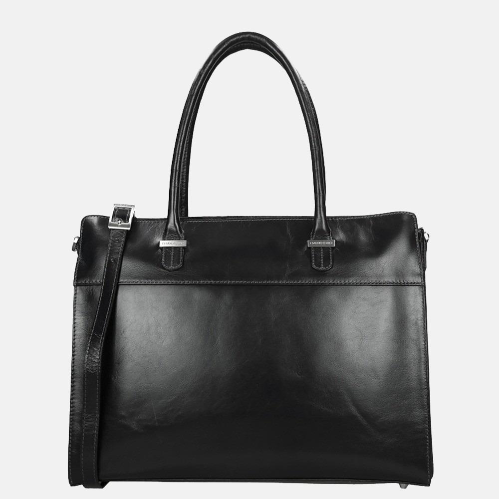 Claudio Ferrici Classico shopper/laptoptas 15 inch black