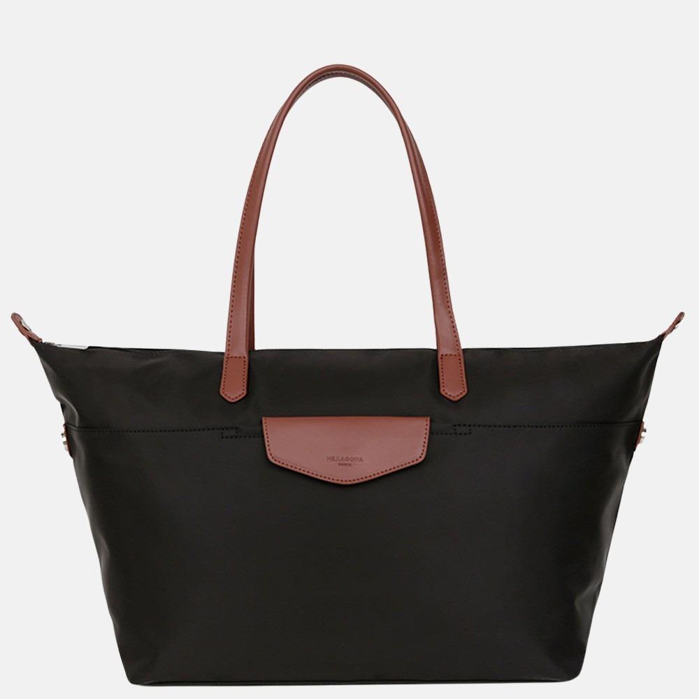 Hexagona weekendtas/shopper L black brown