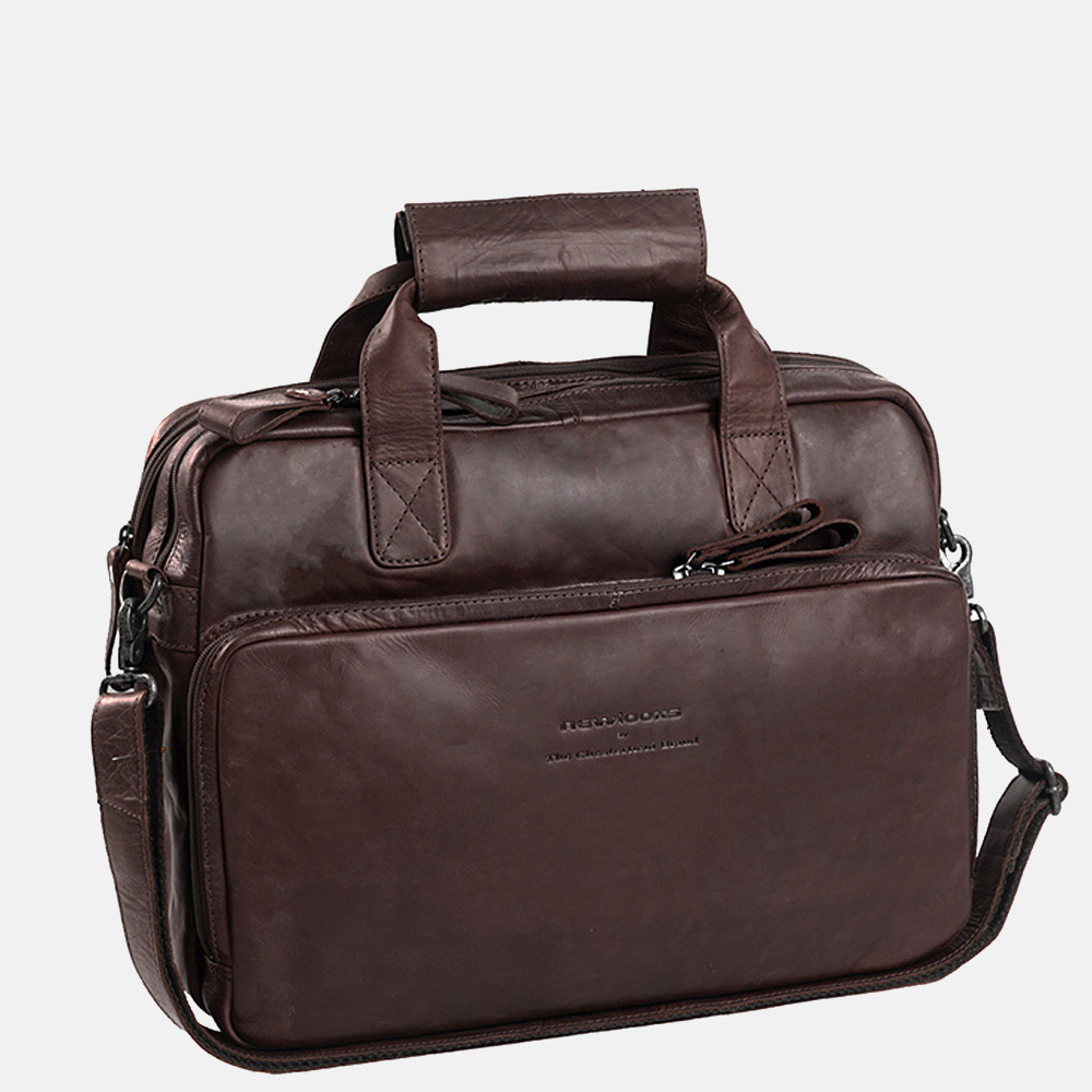Chesterfield Geneva laptoptas/fietstas 15.6 inch dark brown