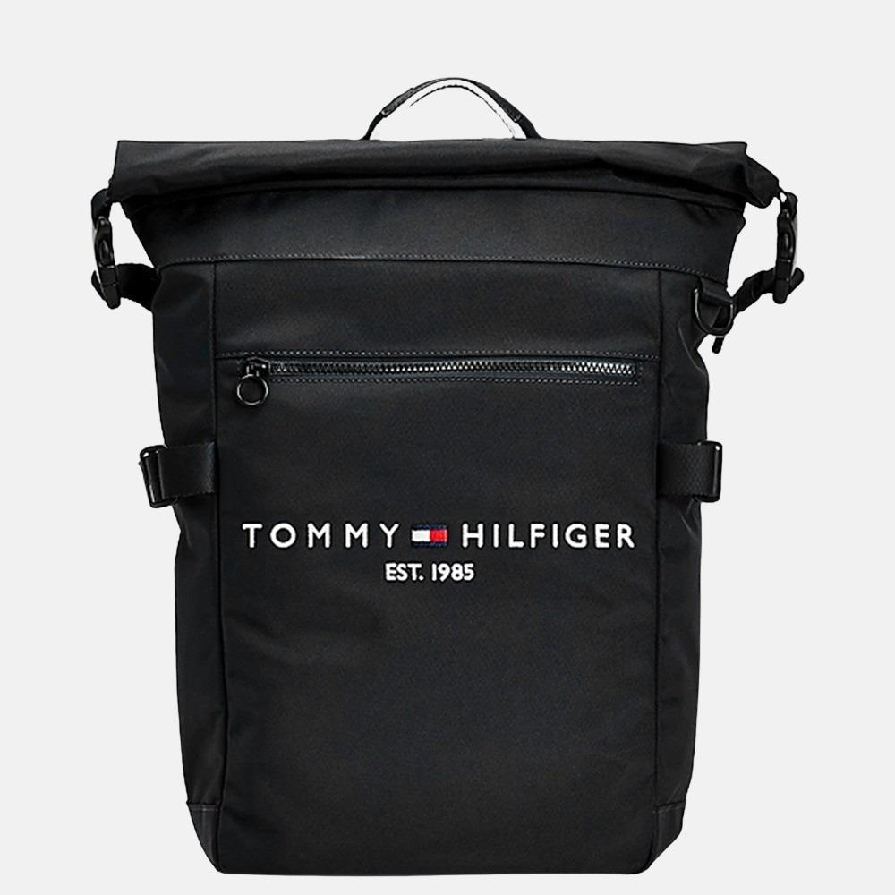 Tommy Hilfiger Established Rolltop rugzak black
