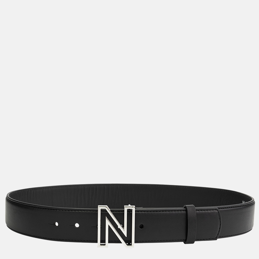 NIKKIE riem logo black/nickel