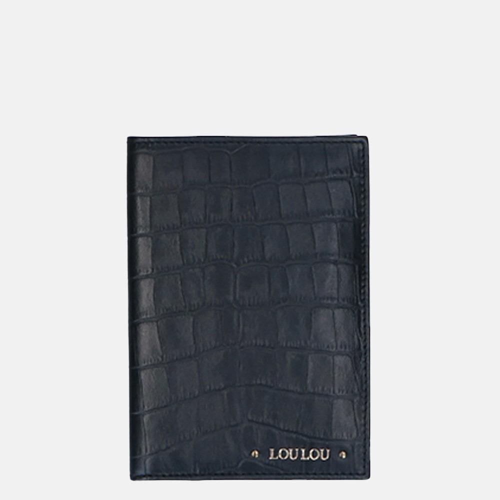 LouLou Essentiels Classy Croco paspoorthoes black