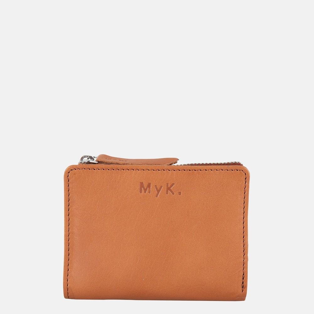 MyK Purse Poppy portemonnee S caramel