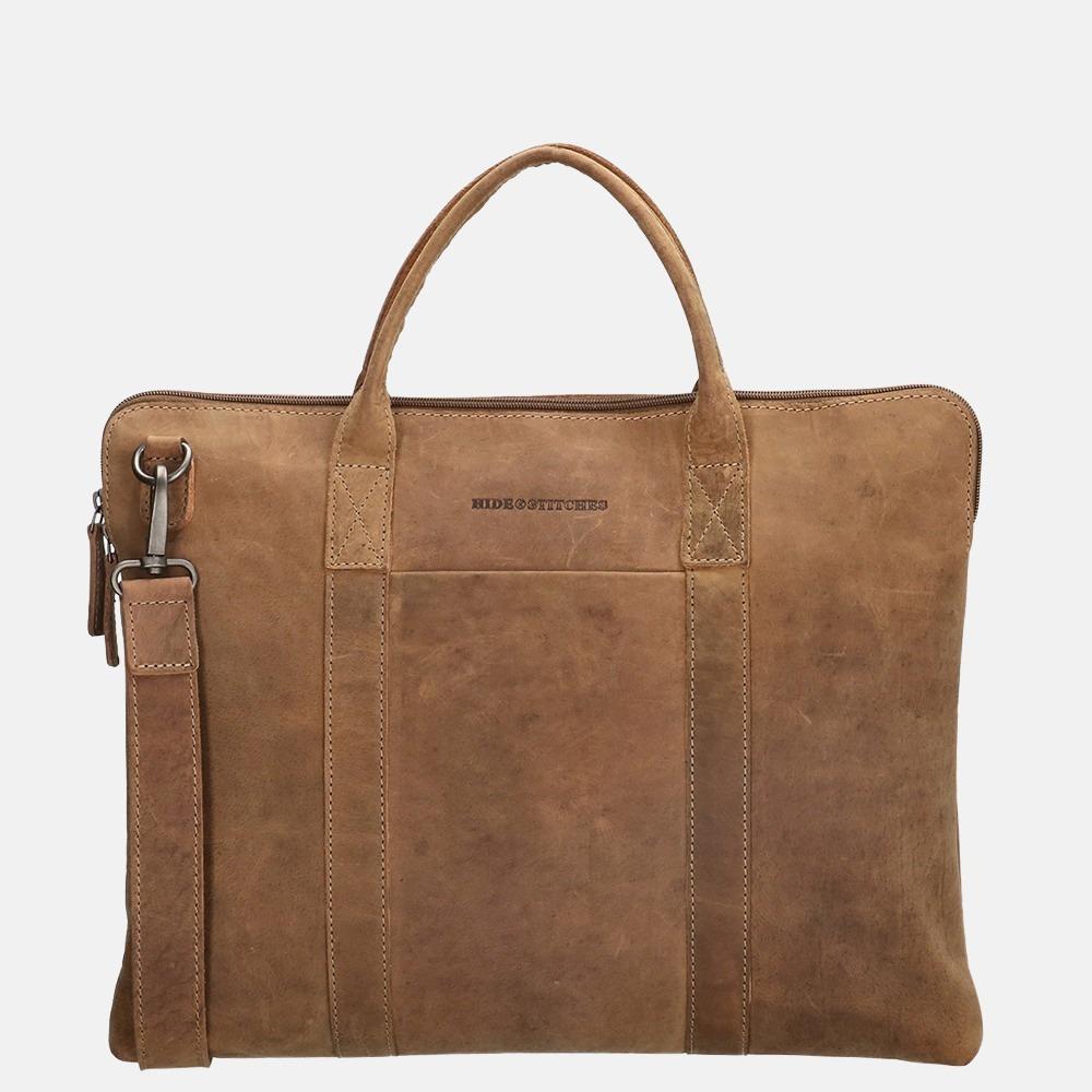 Hide & Stitches Idaho laptoptas 15.6 inch brown