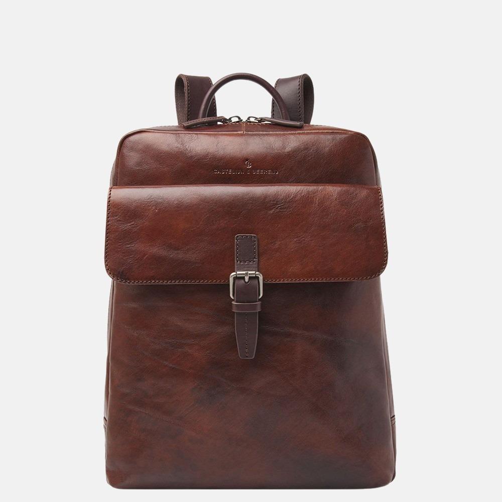 Castelijn & Beerens Rien laptoprugzak 15.6 inch cognac