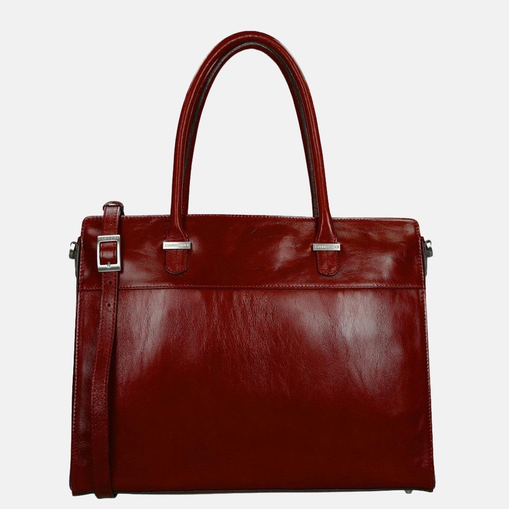 Claudio Ferrici Classico shopper/laptoptas 15 inch red