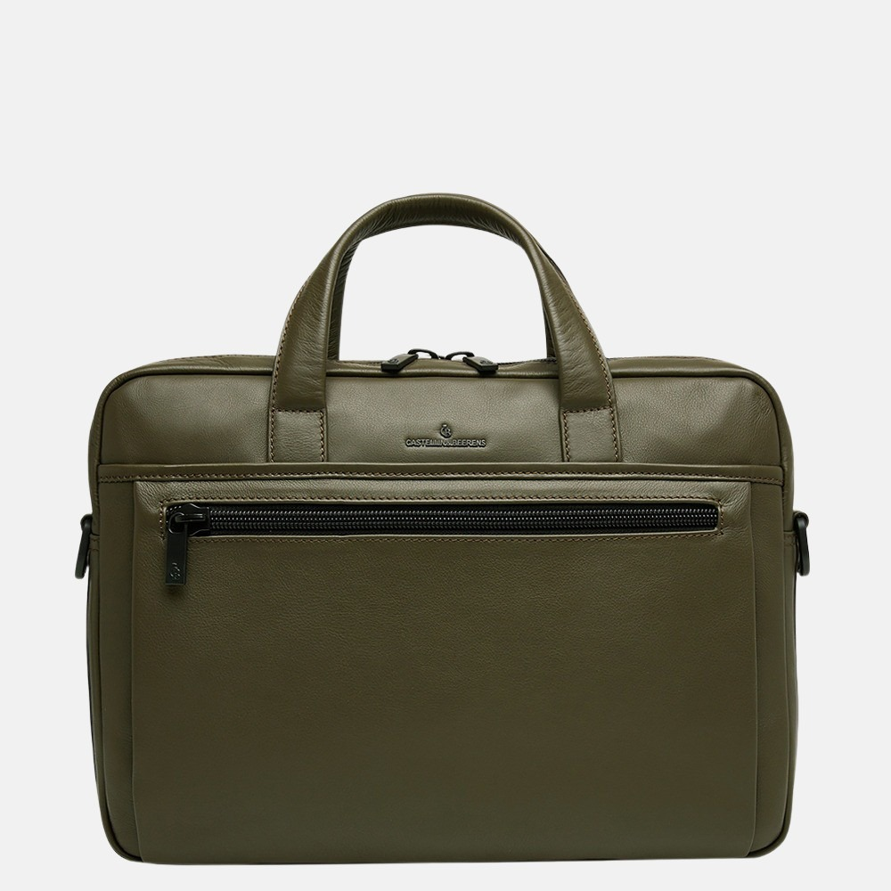 Castelijn & Beerens Charlie laptoptas 15.6 inch dark militairy