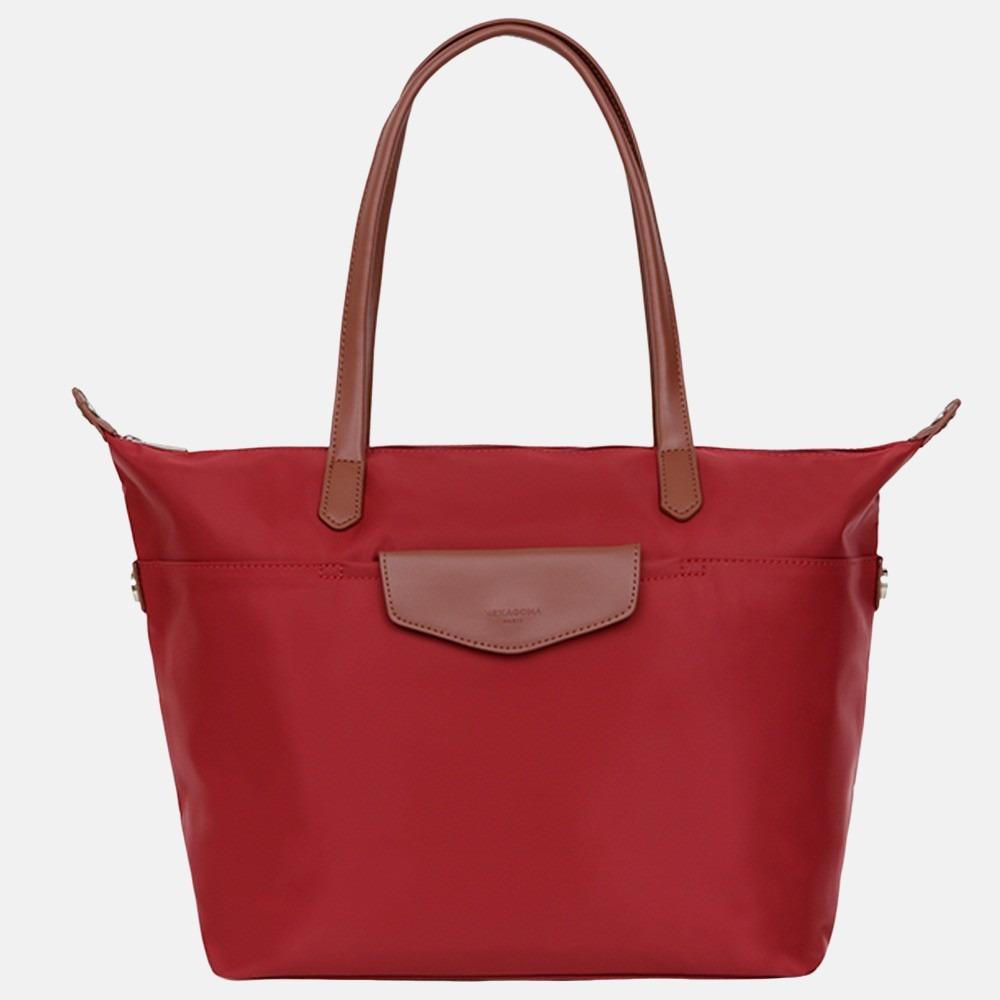 Hexagona shopper M red