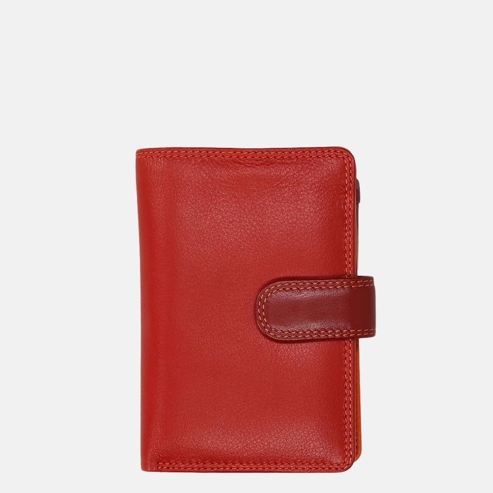 Visconti Rainbow portemonnee red multi