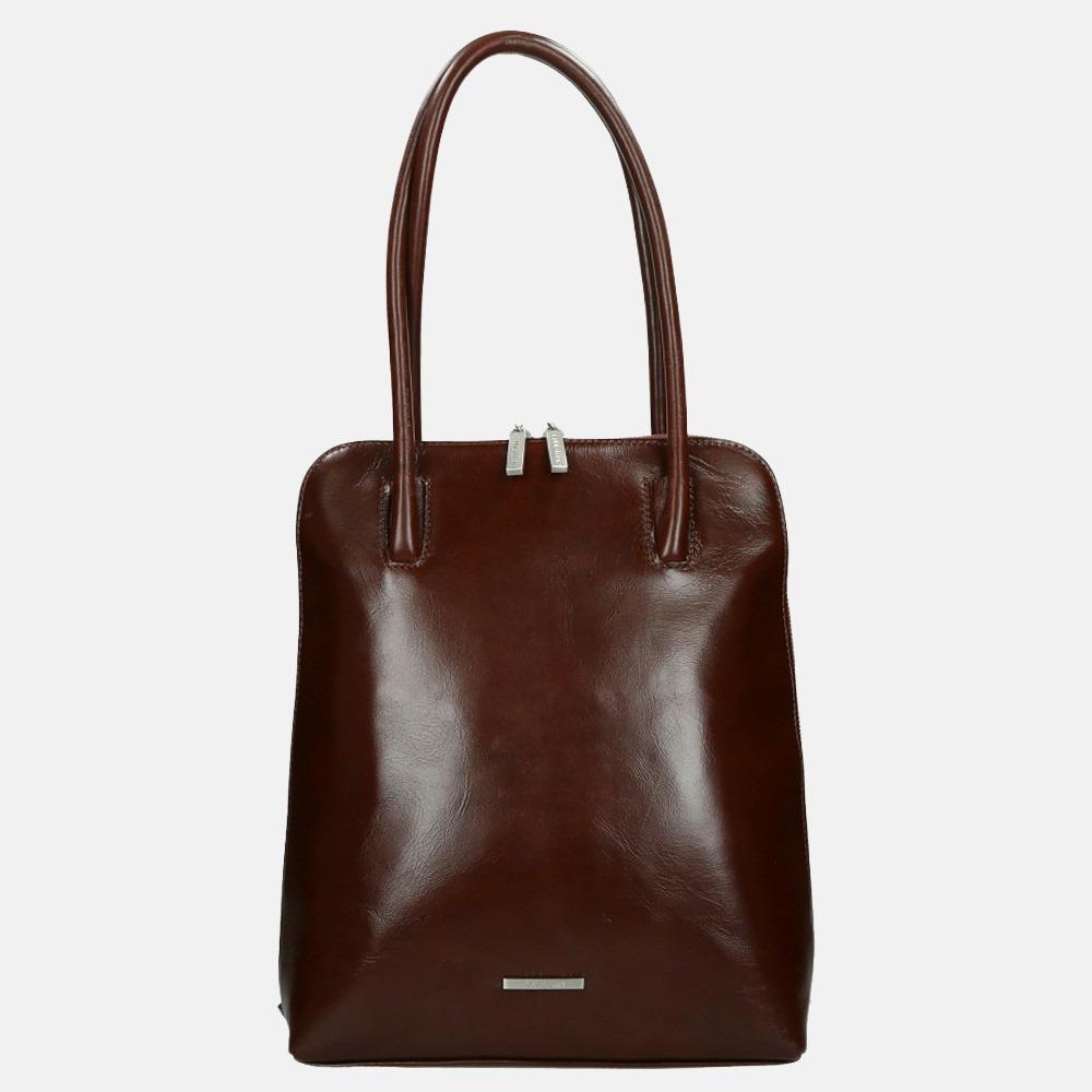Claudio Ferrici Classico shopper/rugzak brown