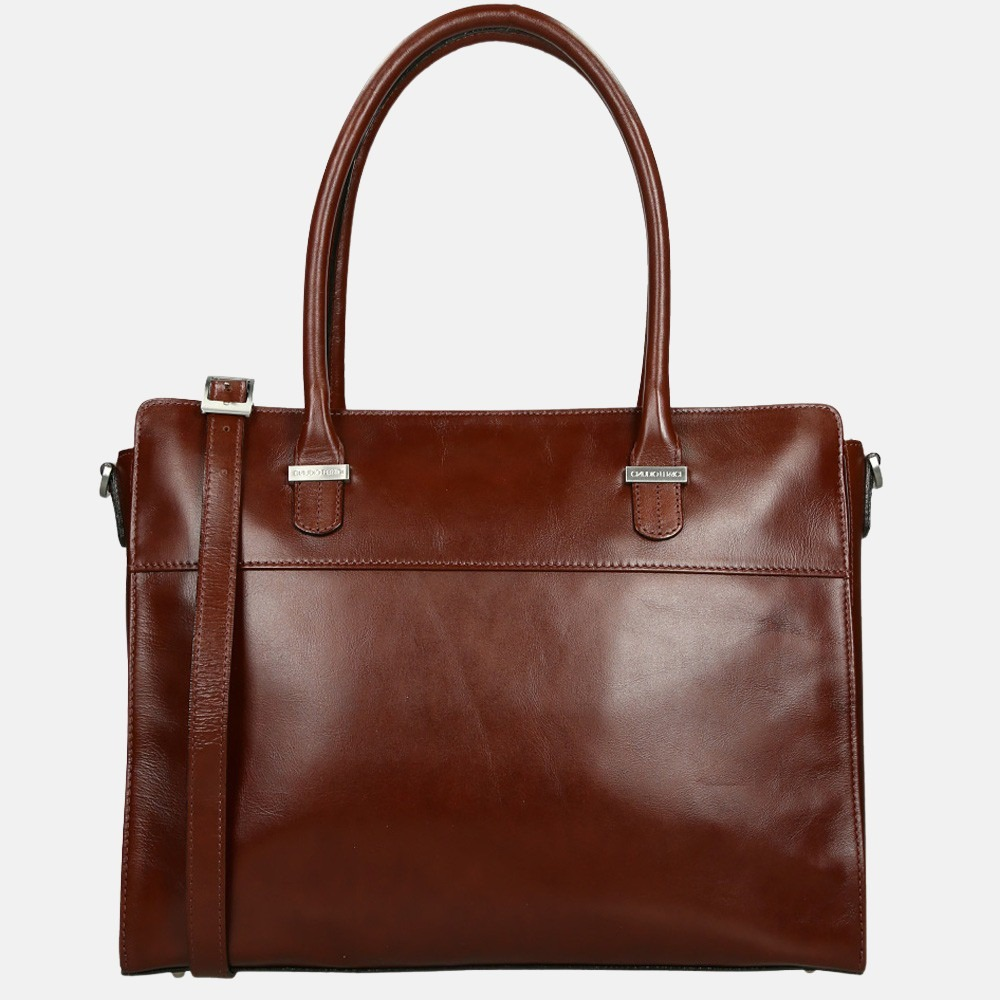 Claudio Ferrici Classico shopper/laptoptas 15 inch brown