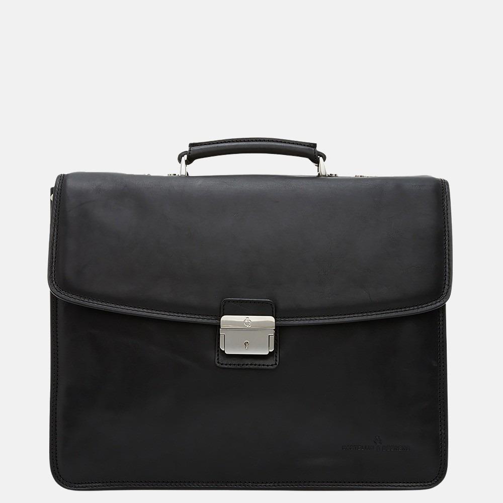 Castelijn & Beerens Verona aktetas 15.6 inch zwart