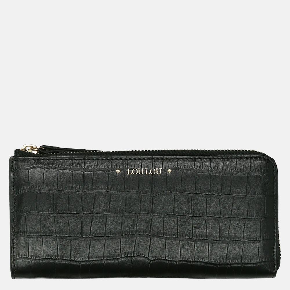 LouLou Essentiels Classy Croco portemonnee black