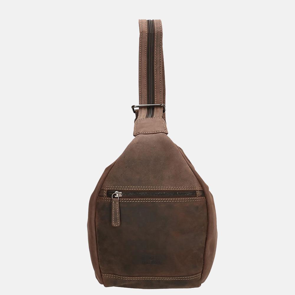 Old West rugzak dark brown