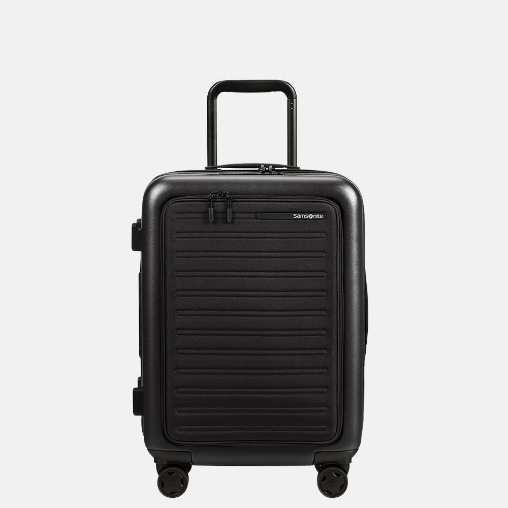 Samsonite StackD handbagage spinner 55 cm black