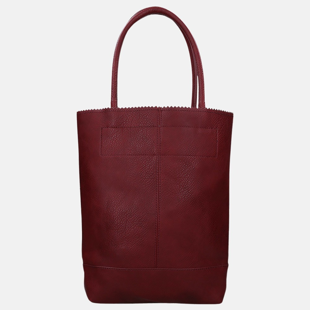 Zebra Trends Natural Bag shopper red