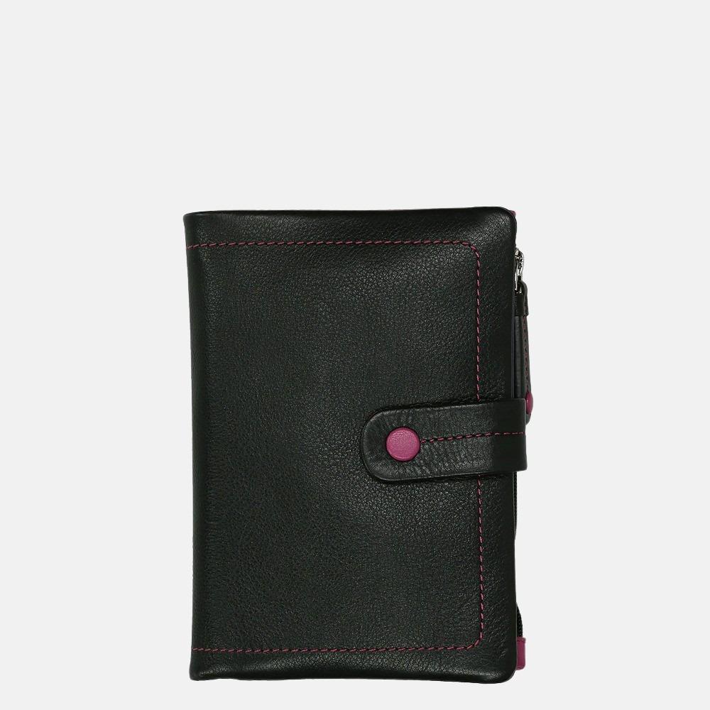 Visconti portemonnee black multi