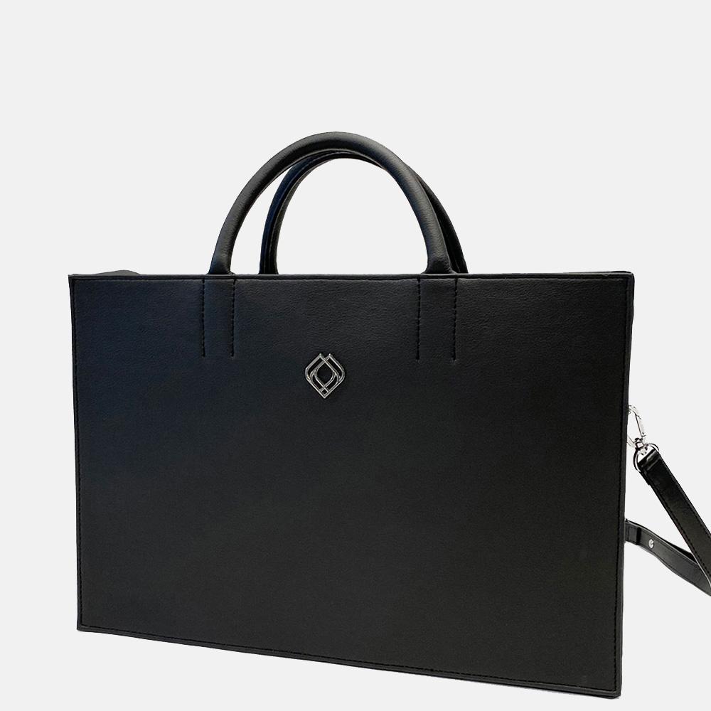 Trashious Businessbag handtas 15 inch cactusleer zwart