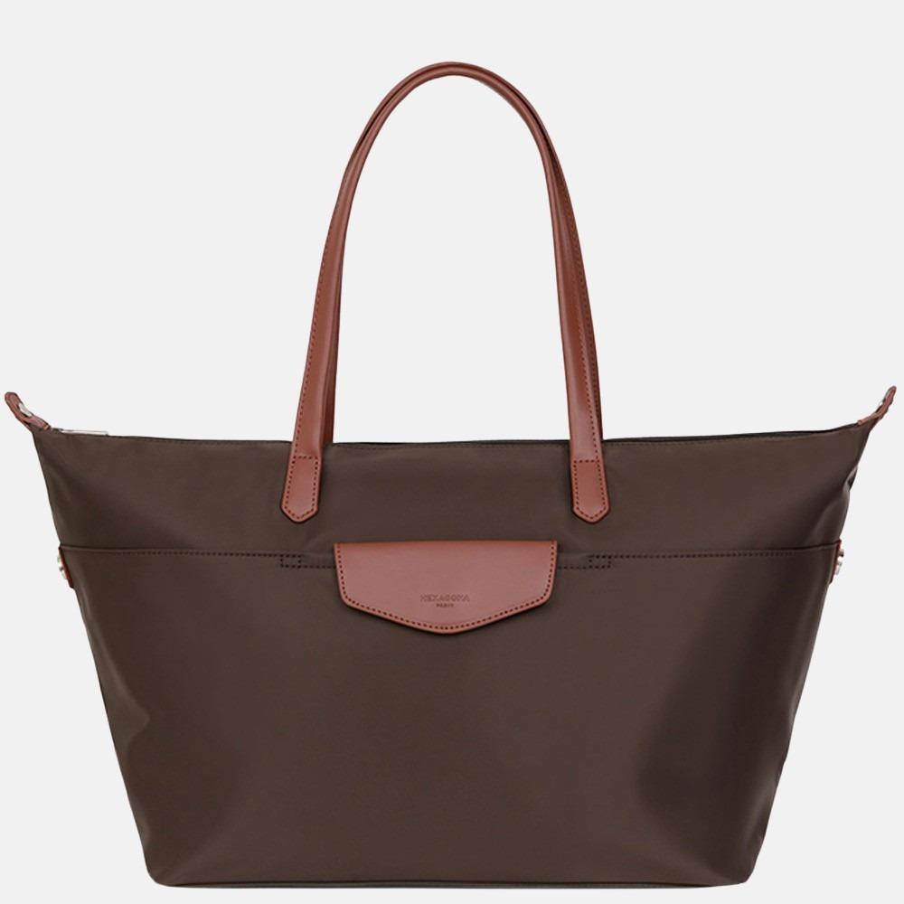 Hexagona weekendtas/shopper L dark brown