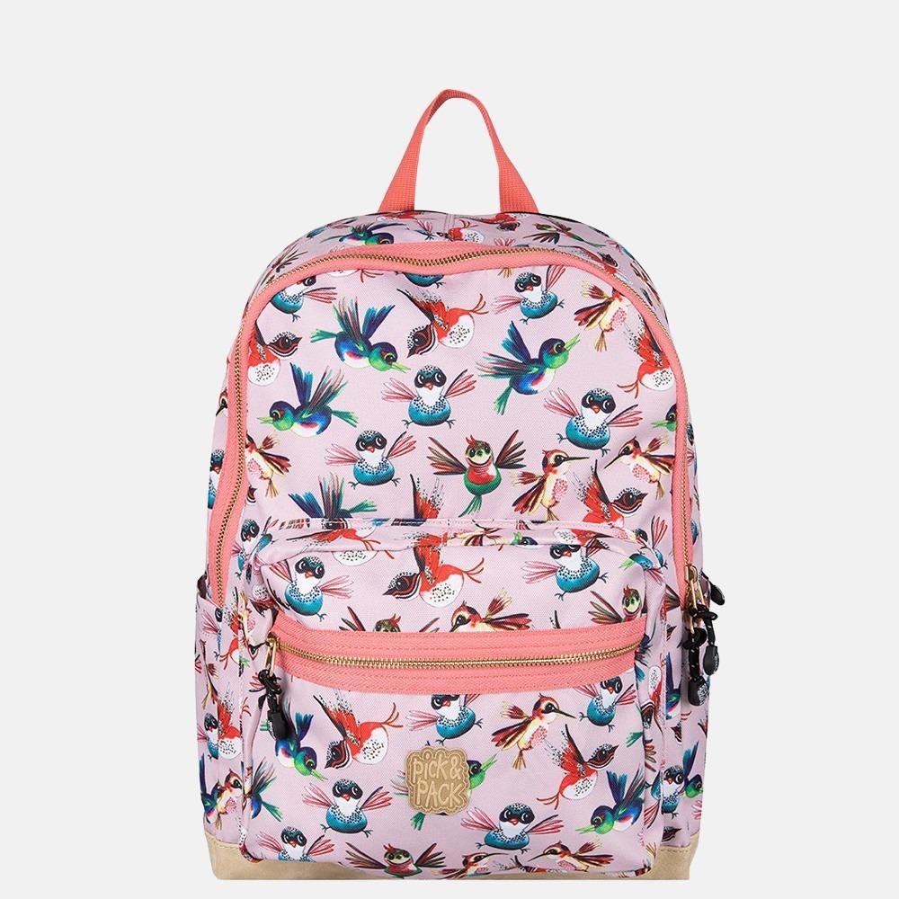 Pick & Pack Birds kinderrugzak L soft pink