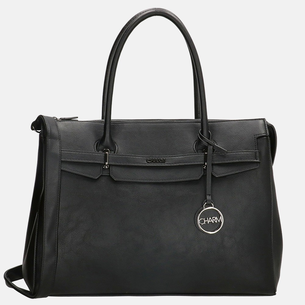 Charm London Bromley laptoptas 15.4 inch black