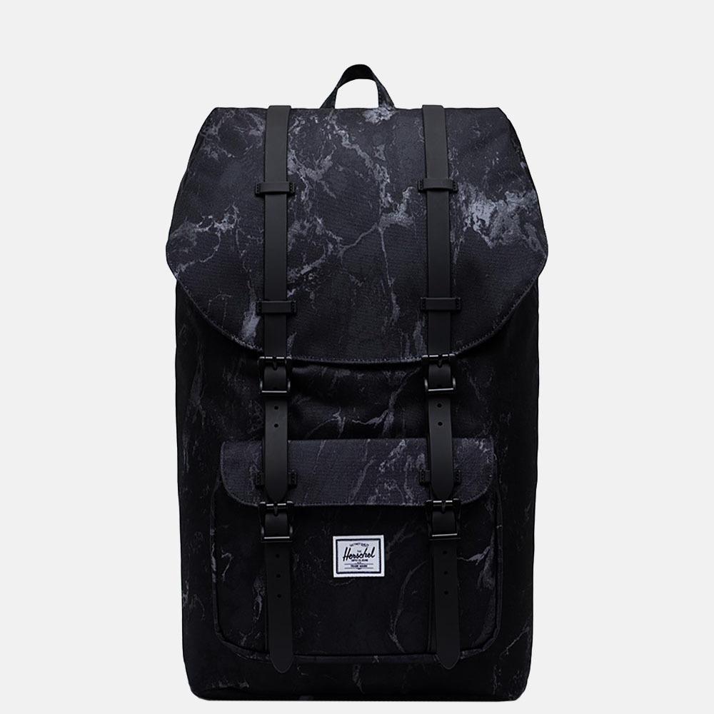 Herschel Little America rugzak 15 inch black marble